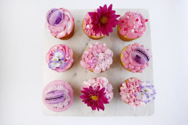 Pink Buttercream cupcakes perfect for a birthday party.